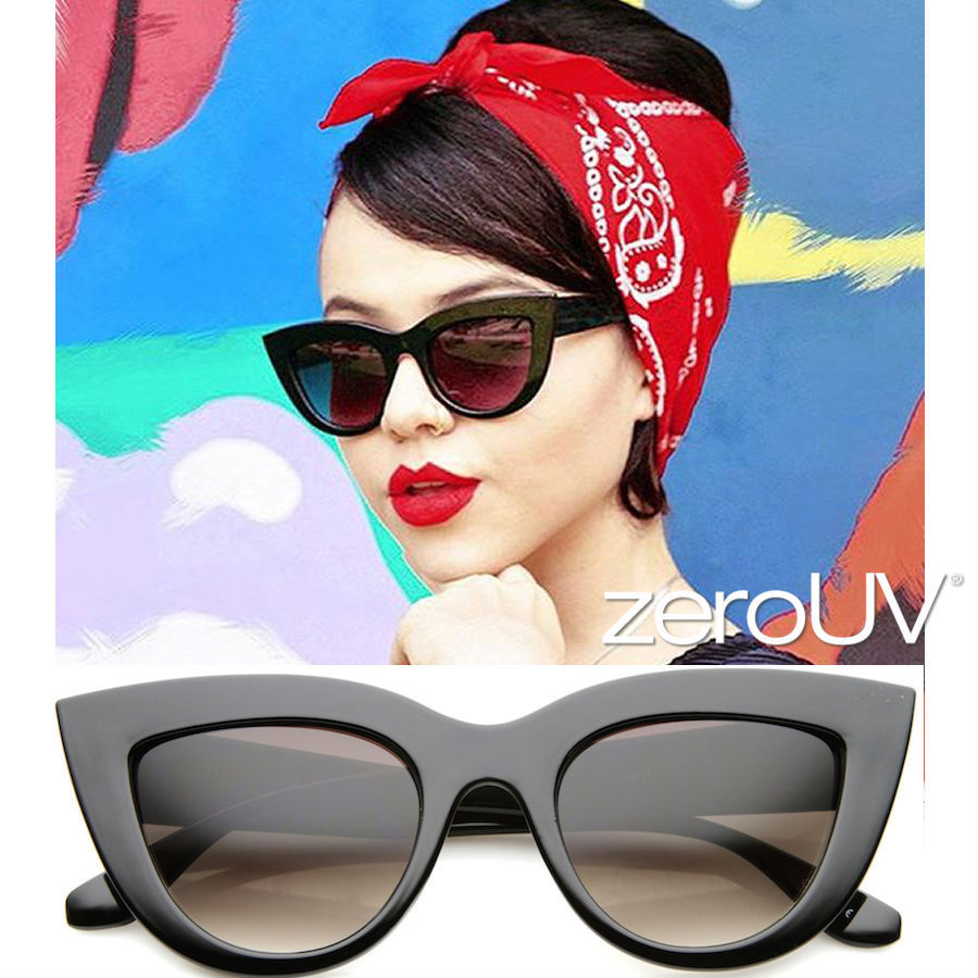 全4色*zeroUV*WOMEN'S 70'S RETRO SHARP CAT EYE SUNGLASSES