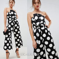 国内発送 ASOS Jumpsuit in Structured Fabric in Spot Print