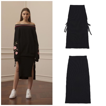 日本未入荷TARGETTOのRIBBED STRING SKIRT