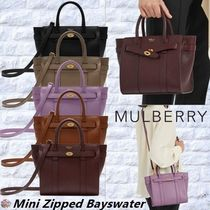 Mulberry☆Mini Zipped Bayswater 2wayショルダー ハンドバッグ