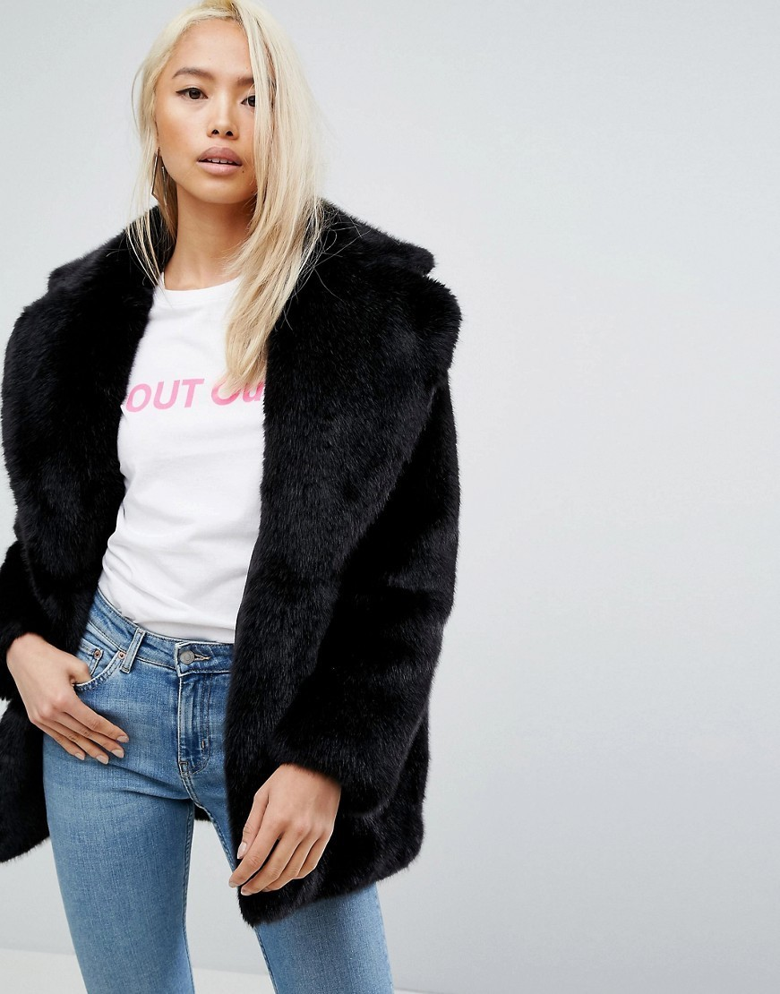 Jakke Mid Length Faux Fur Coat