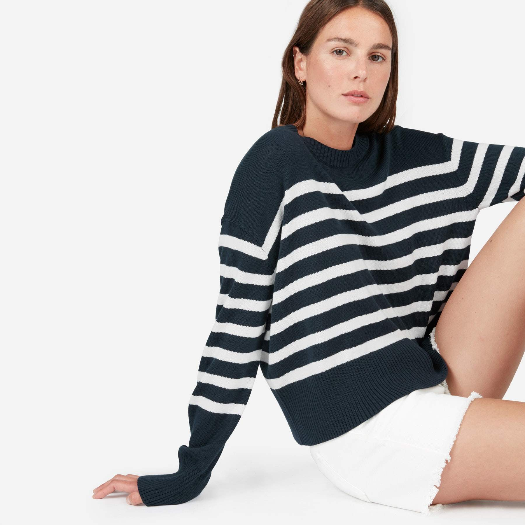 【EVERLANE】●日本未入荷●大人気●Soft Cotton Square Crew