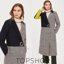 ★TOPSHOP★今年一押し!チェック&カラーブロック正統派コート