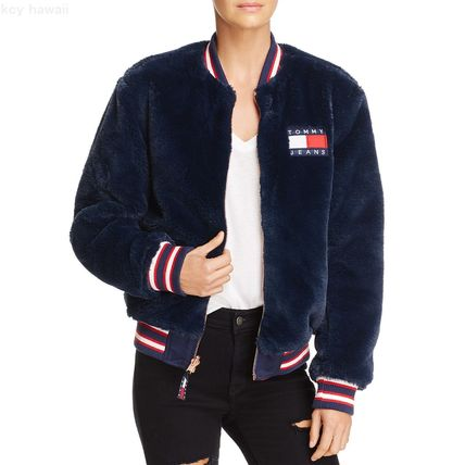 Tommy Hilfiger☆TommyJeansリバーシブルフェイクファーボンバー