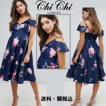 Chi Chi London Maternity ミニドレス with Frill Cold Shoulder