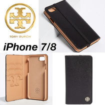 【国内発送,関税込】Tory Burch Parker Leather Folio iPhone7/8