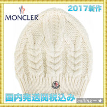 セレブ愛用者多数☆MONCLER☆cable knit beanie hat