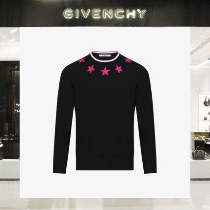 【18SS NEW】 GIVENCHY_men /EMBROIDERED STARSセーター