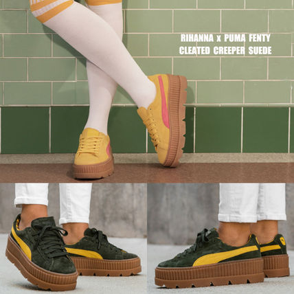 watch 1820b 9cce8 PUMA×FENTY BY RIHANNA CLEATED CREEPER SUEDE コラボ 厚底 2色