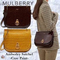 Mulberry☆Amberley Satchel サッチェルバッグ Croc Print