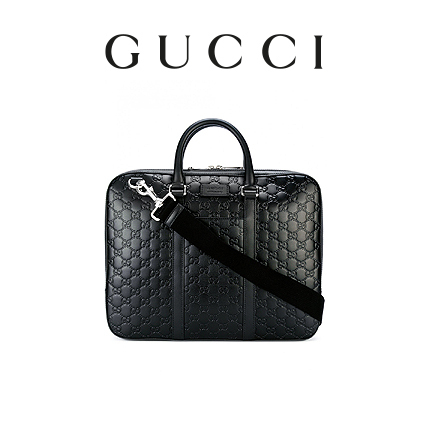 GUCCI LEATHER BRIEFCASE 1985732951 【関税送料込】