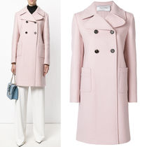 17-18AW V904 ANGORA BLEND WOOL DOUBLE BREASTED COAT