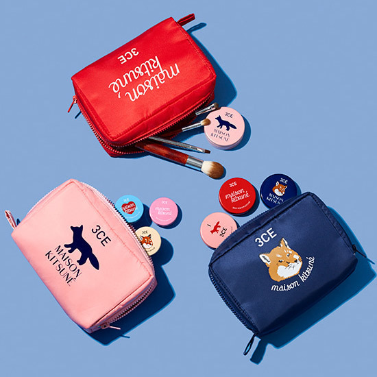 【3CE×MAISON KITSUNE】POUCH メイクアップポーチ 化粧ポーチ