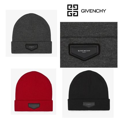 17AW☆Givenchy☆GIVENCHY パッチワーク ニットキャップ