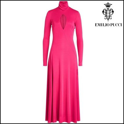 Emilio Pucci(エミリオプッチ)★Floor-Length Gown with Silk