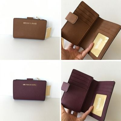 Michael Kors 折りたたみ財布 【Michael Kors】JET SET TRAVEL BIFOLD ZIP WALLET 二つ折財布(12)