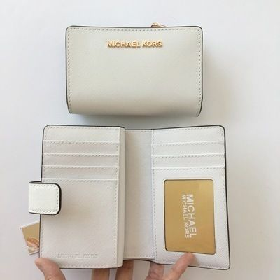 Michael Kors 折りたたみ財布 【Michael Kors】JET SET TRAVEL BIFOLD ZIP WALLET 二つ折財布(8)