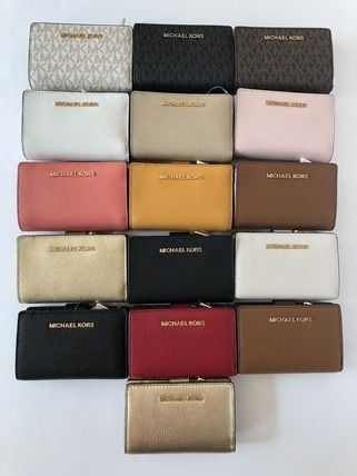Michael Kors 折りたたみ財布 【Michael Kors】JET SET TRAVEL BIFOLD ZIP WALLET 二つ折財布