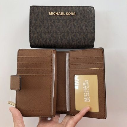 Michael Kors 折りたたみ財布 【Michael Kors】JET SET TRAVEL BIFOLD ZIP WALLET 二つ折財布(4)