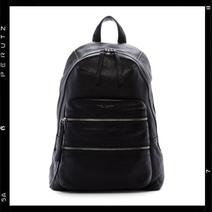 関税込【MARC JACOBS】Biker Large Multi-Zip Leather Backpack
