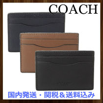 COACH●Men's レザーカードケース ギフトBOX入り♪3color☆