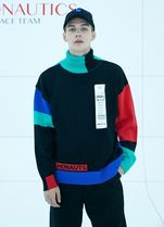 日本未入荷STEREO VINYLSのColorblock Turtleneck Knit