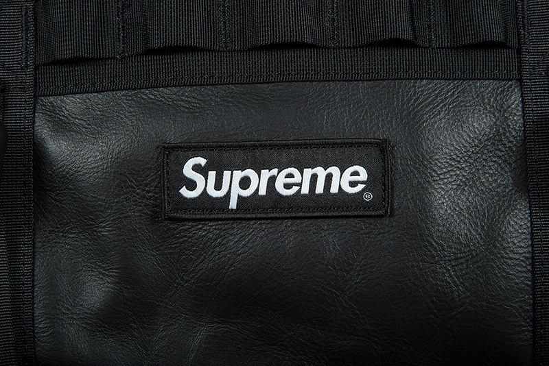 FW17 SUPREME THE NORTH FACE LEATHER BASE CAMP DUFFEL BLACK