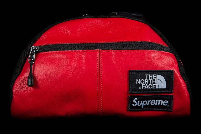 FW17 SUPREME THE NORTH FACE LEATHER ROO II LUMBAR PACK