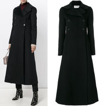 17-18AW V913 ANGORA BLEND WOOL DOUBLE BREASTED LONG COAT