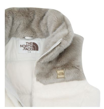 (ザノースフェイス) W'S HAYWARD FUR DOWN VEST WHITE NV1DI81J