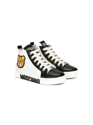 MOSCHINO baskets montantes a logo 関税送料込み