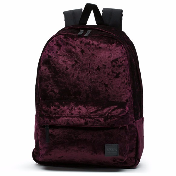 追尾/関税/送料込み Vans DEANA CRUSHED VELVET BACKPACK