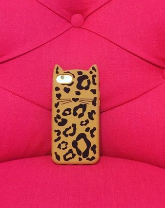 kate spade new york スマホケース・テックアクセサリー 大人気商品★Kate spade Silicone Cheetahcat iphone7Case★