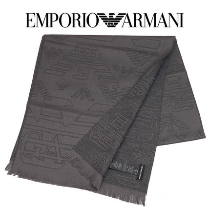 best service 50d76 a9b0a アルマーニ EMPORIO ARMANI ウール マフラー 625009-7A306-00184