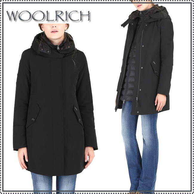 WOOLRICH★Long Military Eskimoダウンコート★ブラック