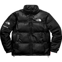 国内品 Mサイズ Supreme The North Face Leather Nuptse Jacket