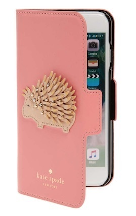 【送料関税込】kate spde porcupine iPhone 7/8 folio case