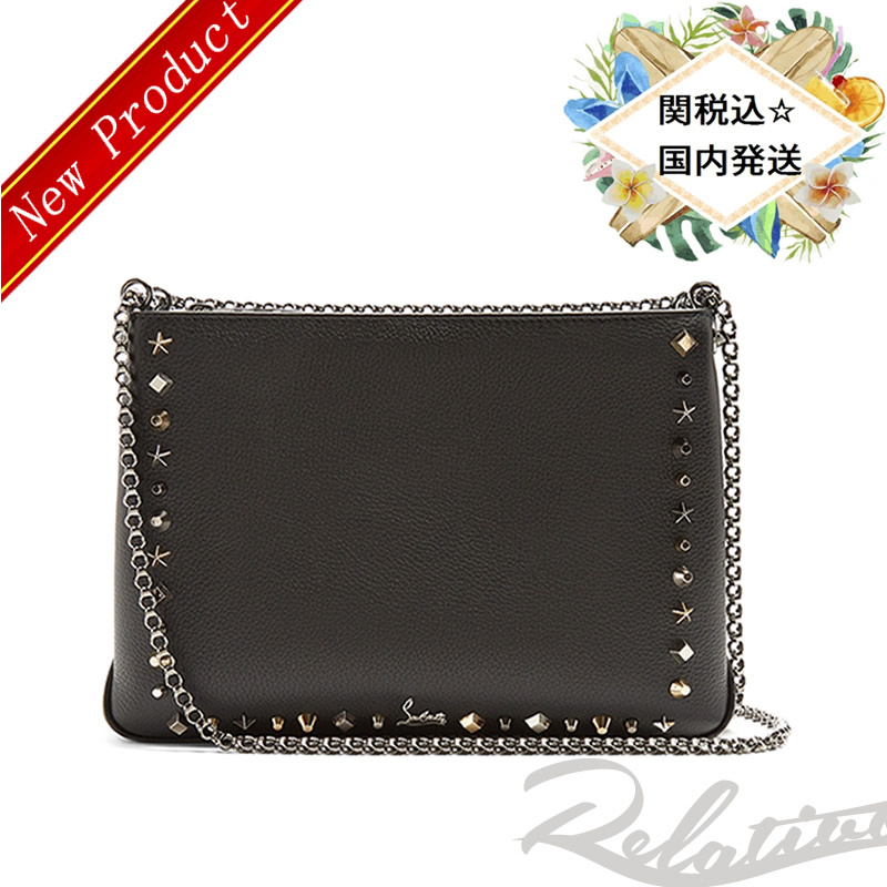 18AW★新作【Christian Louboutin】Triloubi large leather bag