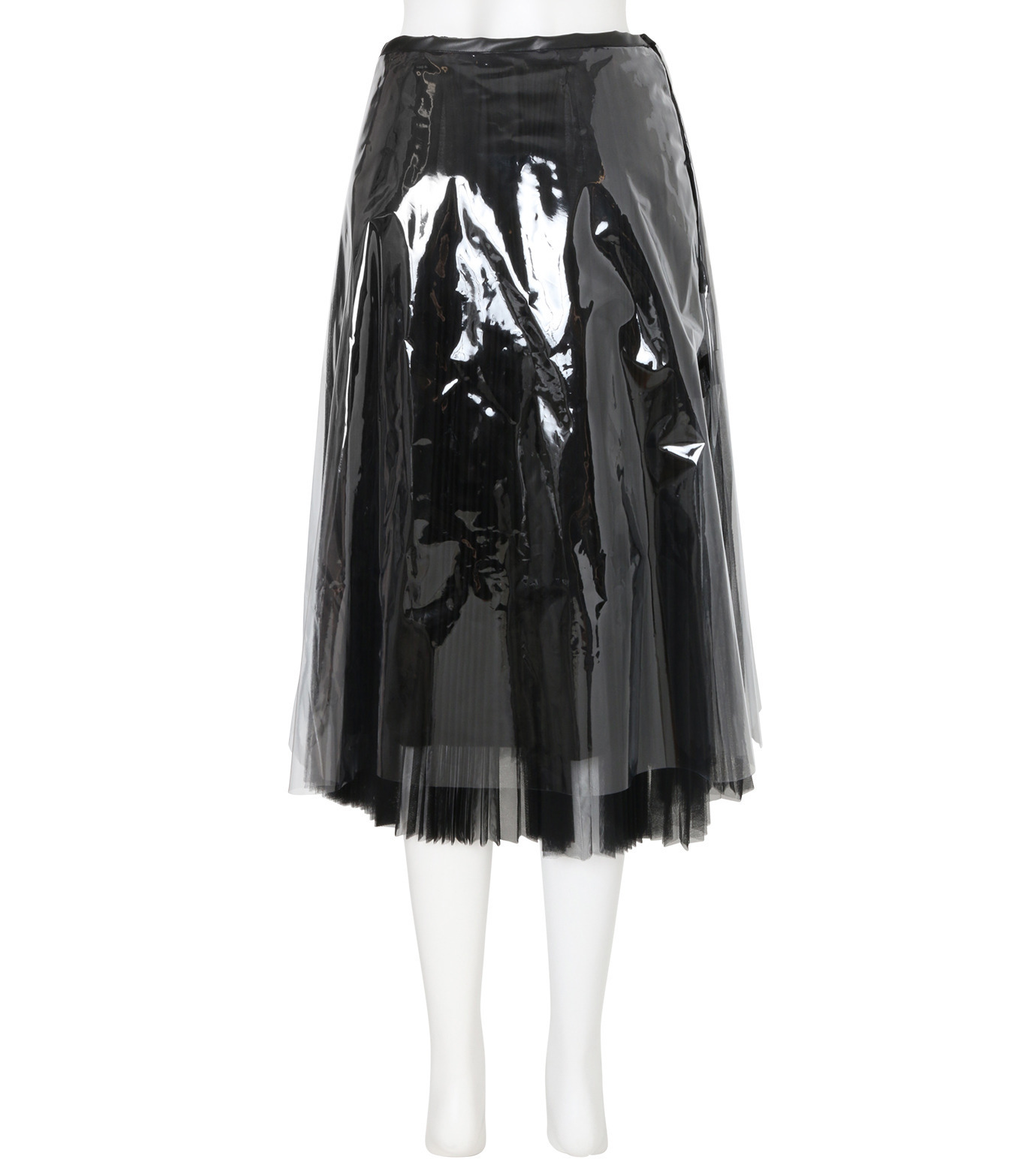 TARO HORIUCHI PVC Covered Pleats Skirt 1704SK03901-13 ◇