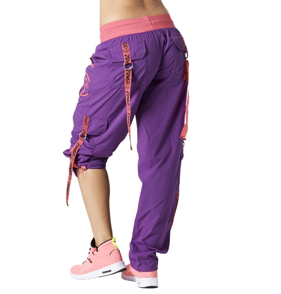 H29.10【ZUMBA】Throwback Electro Cargo Pants(Purple)Z1B00669