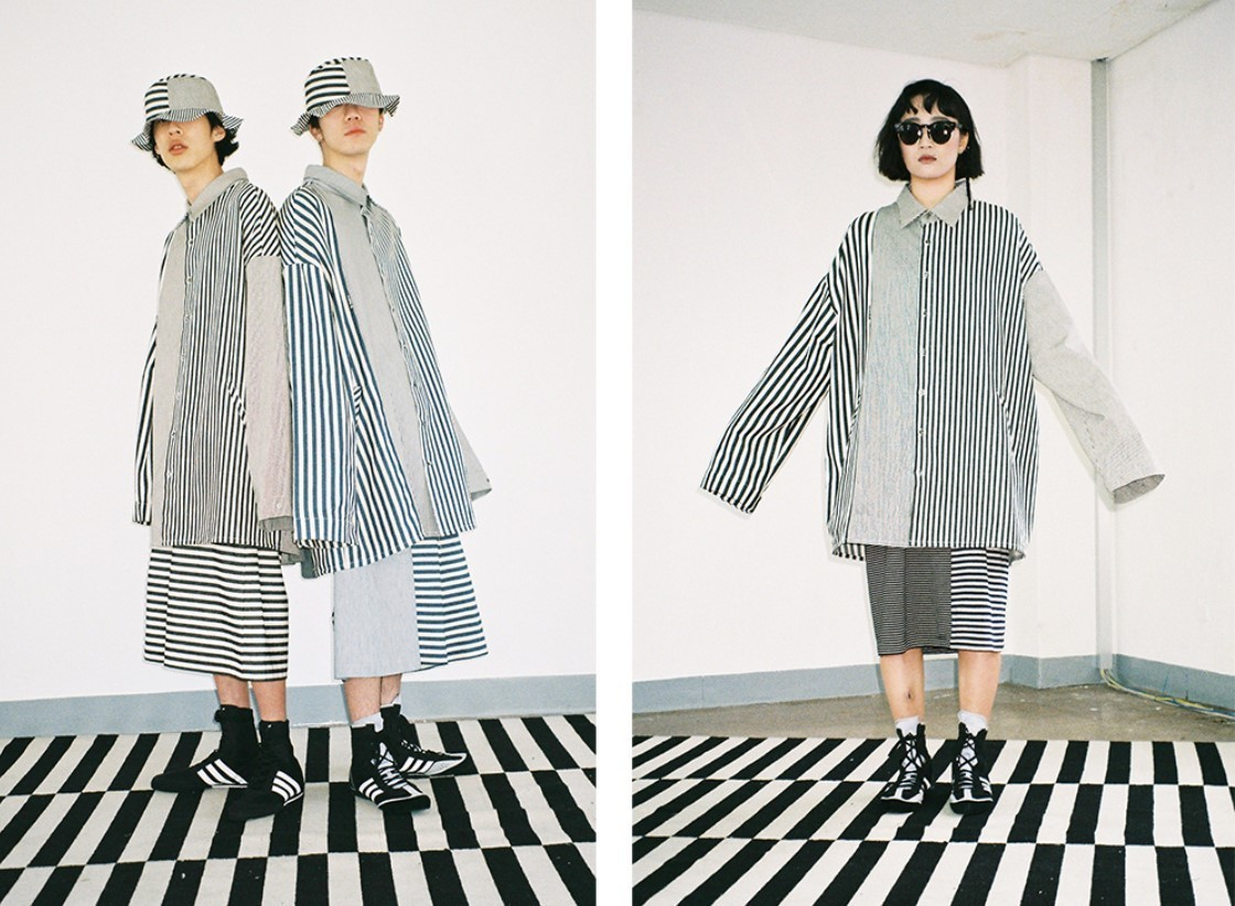 Over Twofold Stripe Shirt