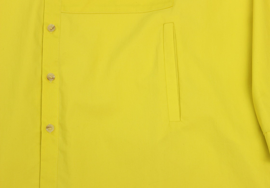 Over Solid Two Pocket Shirt (Lime Yellow)