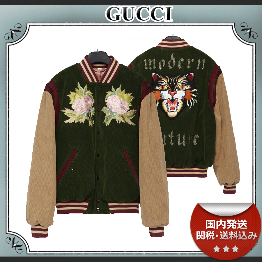 18AW/送関込≪GUCCI≫ Angry Cat ベルベットジャケット