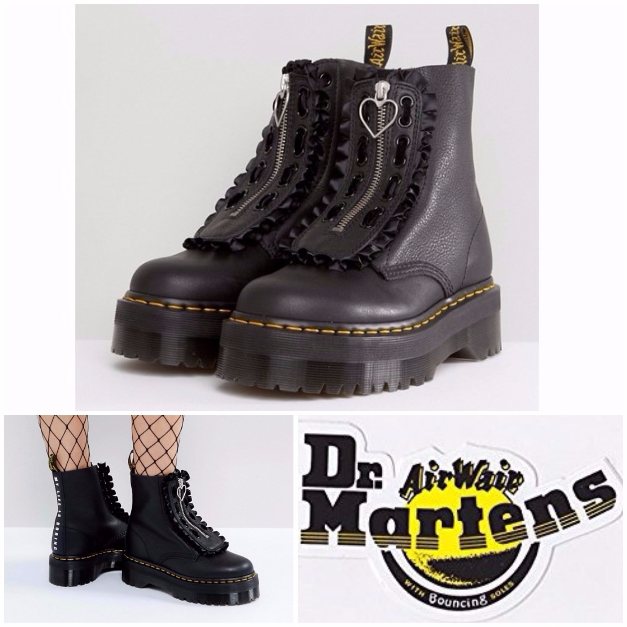 【Dr.Marten】Dr Martens x LazyOaf  ジャングルブーツ ブラック