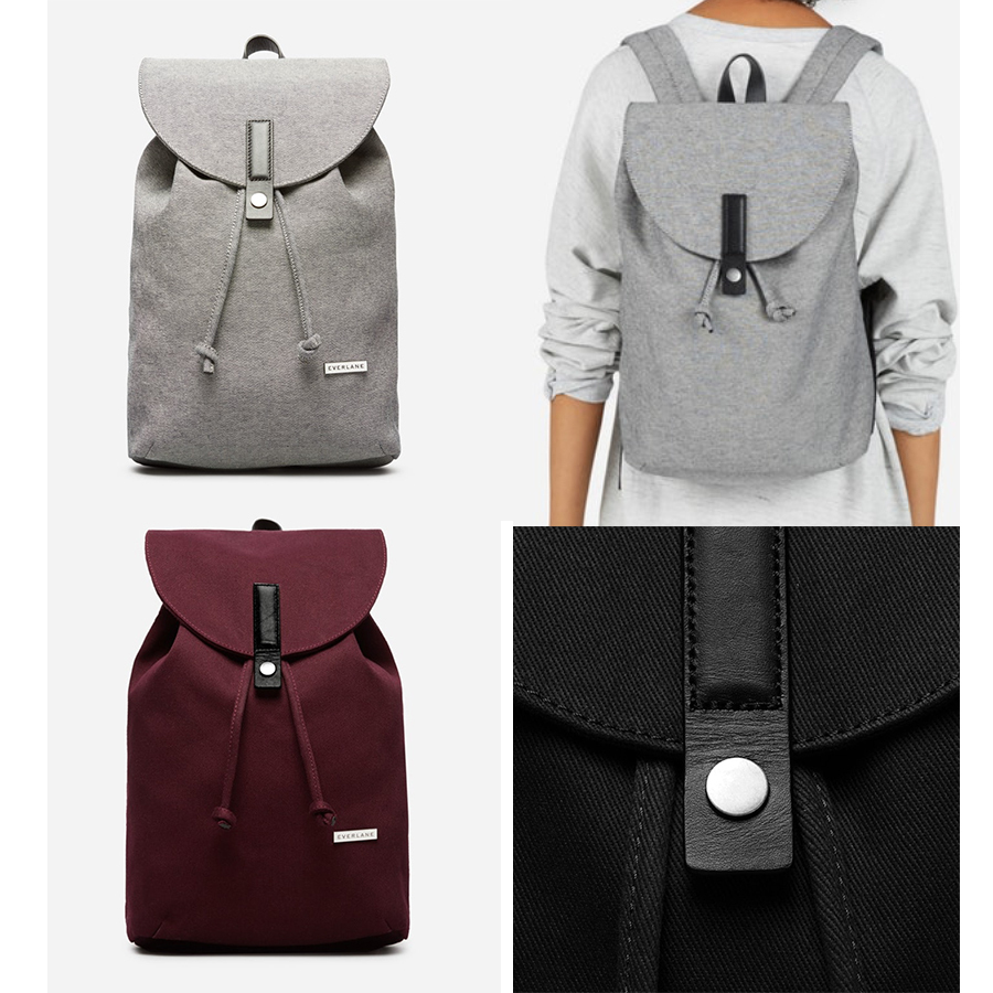 EVERLANE The Modern Twill Single Snap Backpack - Small
