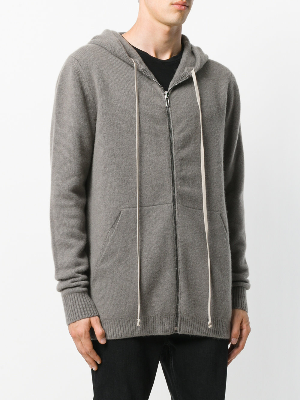17-18AW RO150 BOILED CASHMERE ZIP HOODIE