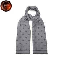 GUCCI-Star and bee-print wool scarf