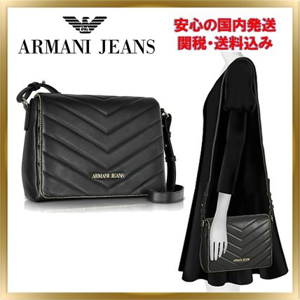 ◇ ARMANI JEANS ◇ Faux Leather Crossbody 【関税送料込】