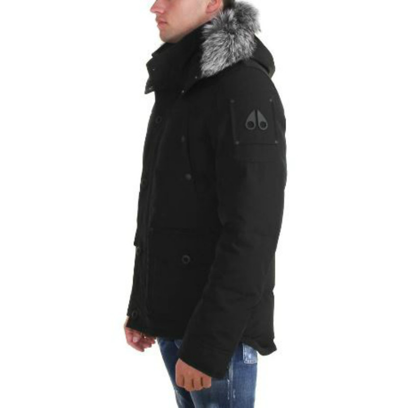 MOOSE KNUCKLES HOODED DOWN JACKET BLACK 2017/18 AW