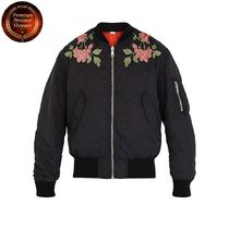 GUCCI-Floral-embroidered reversible bomber jacket